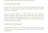 001 Company Privacy Policy Template Uk Ideas with Credit Card Privacy Policy Template