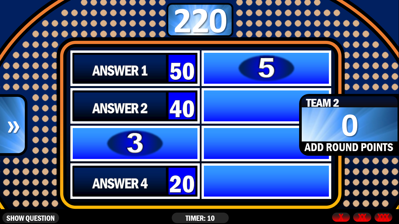 001 Family Feud Game Template Unforgettable Ideas Download Throughout Family Feud Game Template Powerpoint Free