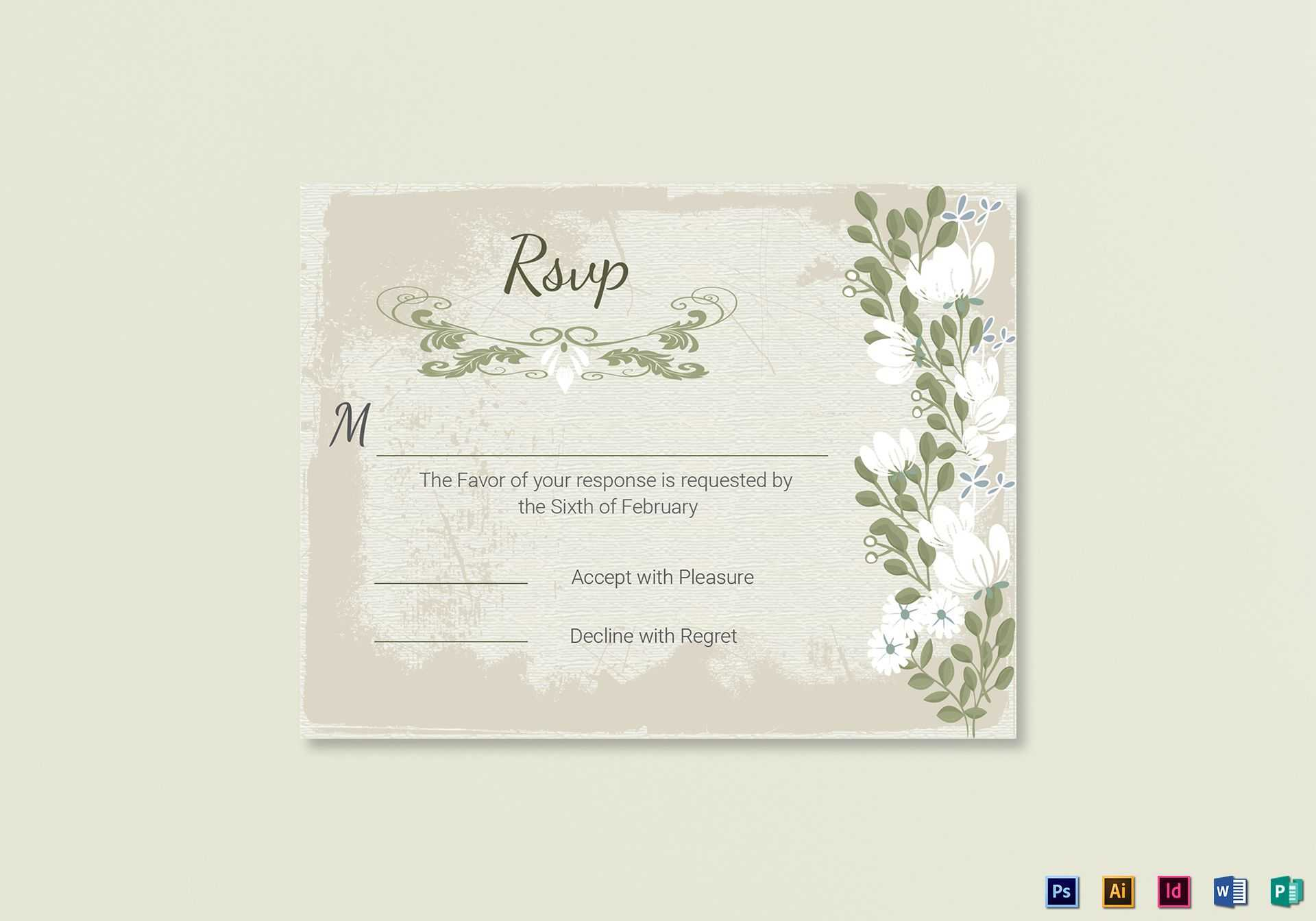 001 Template Ideas Wedding Rsvp Cards Incredible Templates Within Template For Rsvp Cards For Wedding
