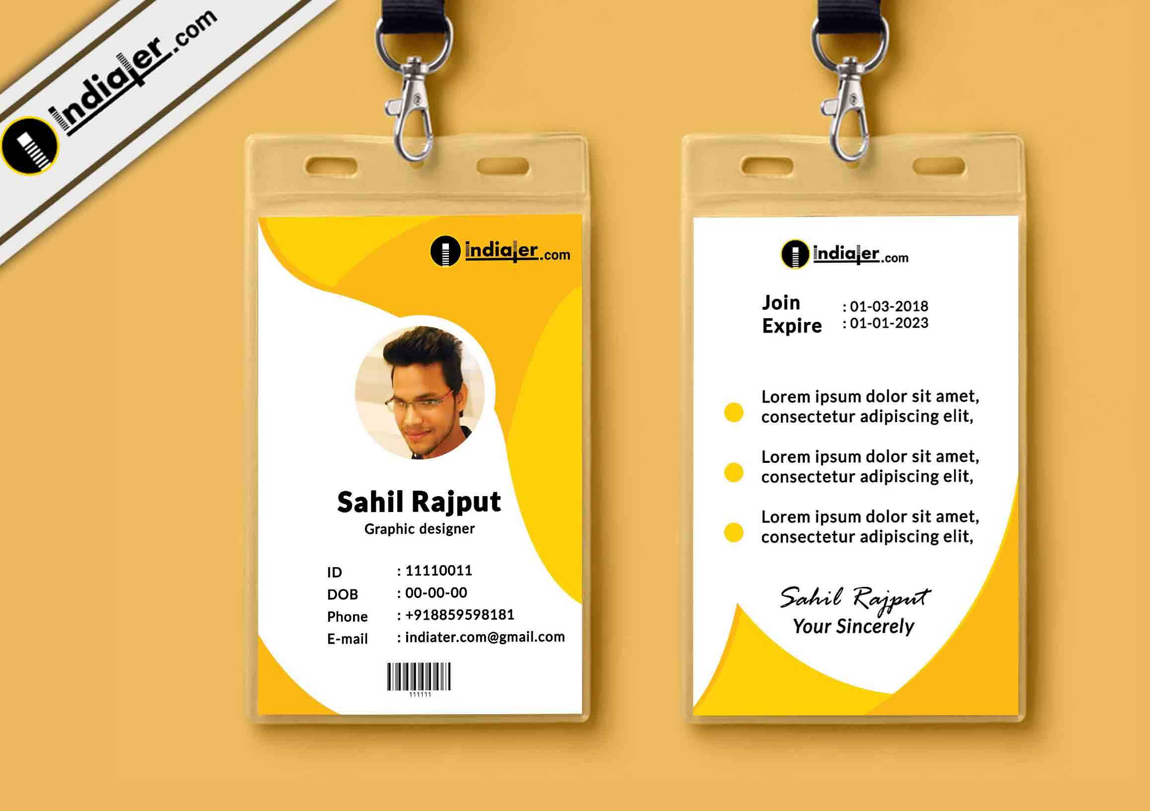 002 Id Card Design Psd Format Template Ideas Multipurpose Within Company Id Card Design Template