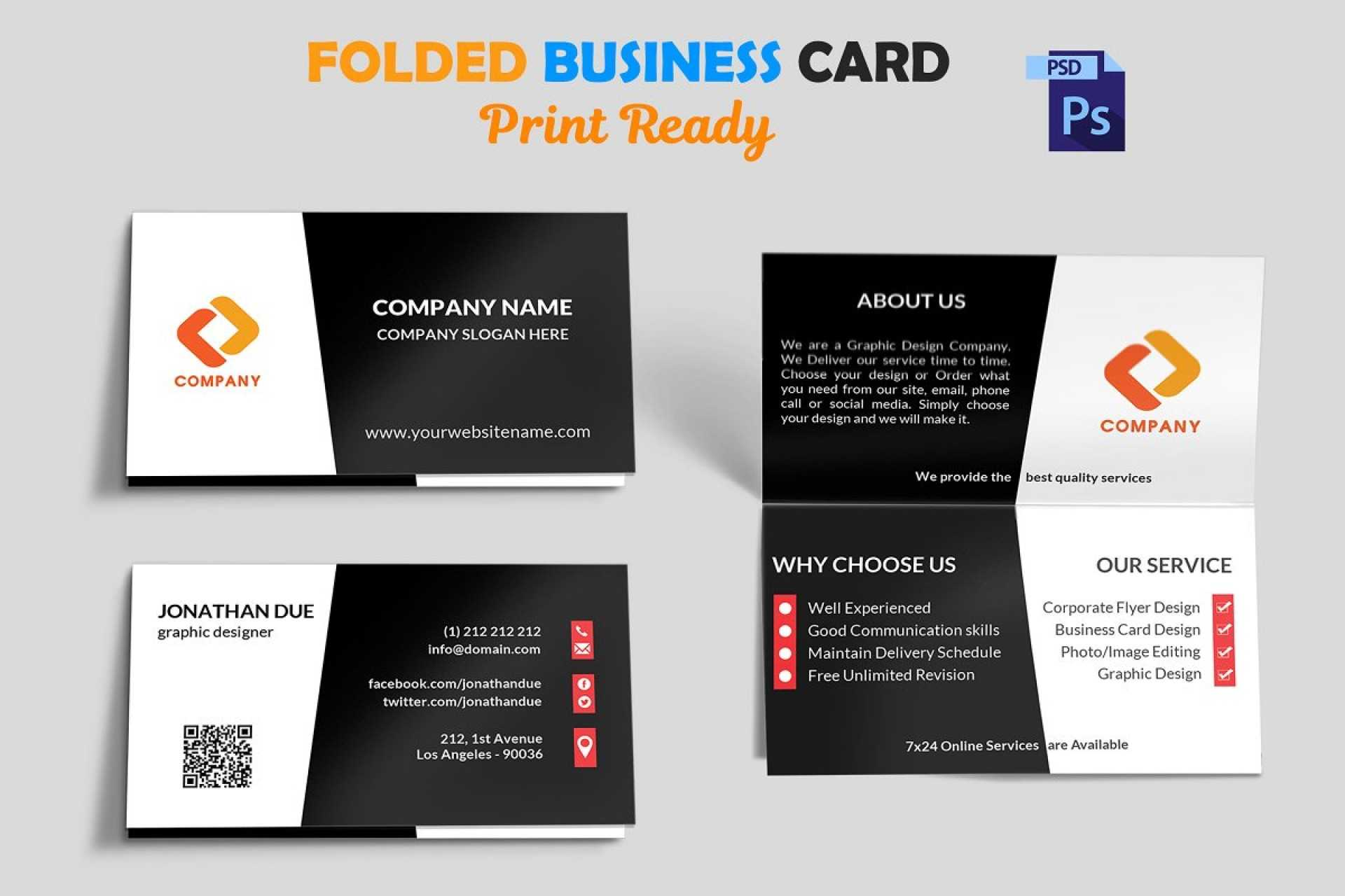 002 Template Ideas Folded Business Card Mock Up Fascinating Regarding Fold Over Business Card Template