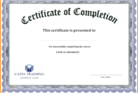 003 Free Certificate Of Completion Template Word Surprising intended for Certificate Of Completion Free Template Word