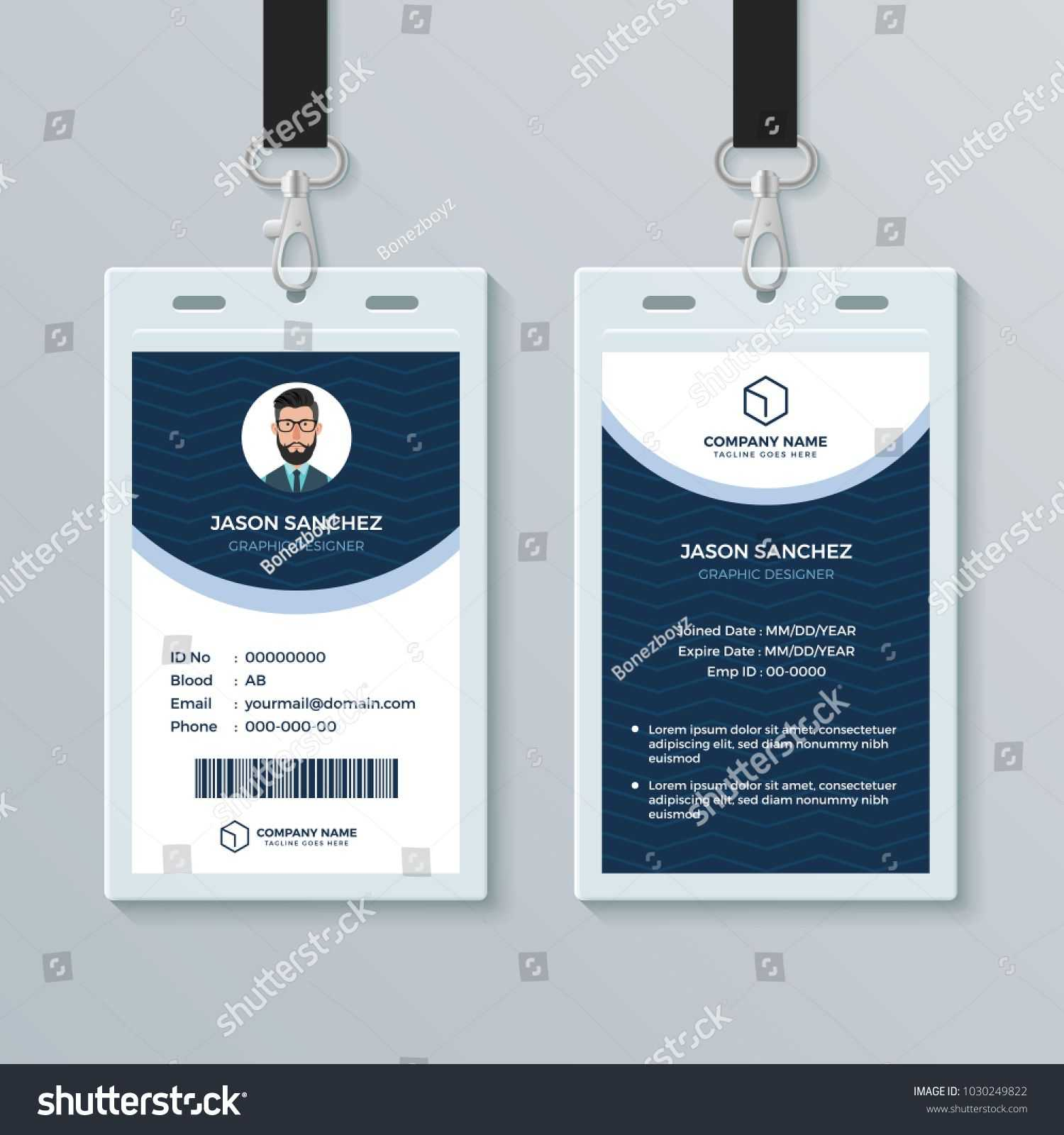 003 Free Id Card Template Fascinating Ideas Download Word Regarding Portrait Id Card Template