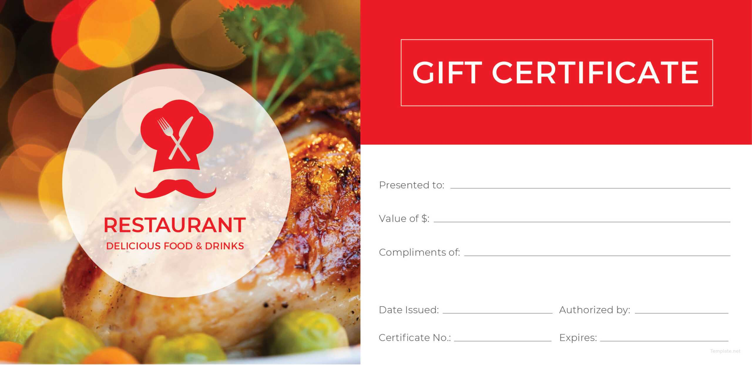 003 Restaurant Gift Certificates Templates Template Ideas Inside Restaurant Gift Certificate Template