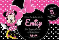 004 Minnie Mouse Birthday Invitation Template Ideas Striking intended for Minnie Mouse Card Templates