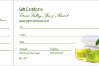004 Spa Gift Certificate Redesigned Product Front Template for Spa Day Gift Certificate Template