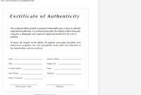 004 Template Ideas Certificate Of Authenticity Unique Free inside Photography Certificate Of Authenticity Template