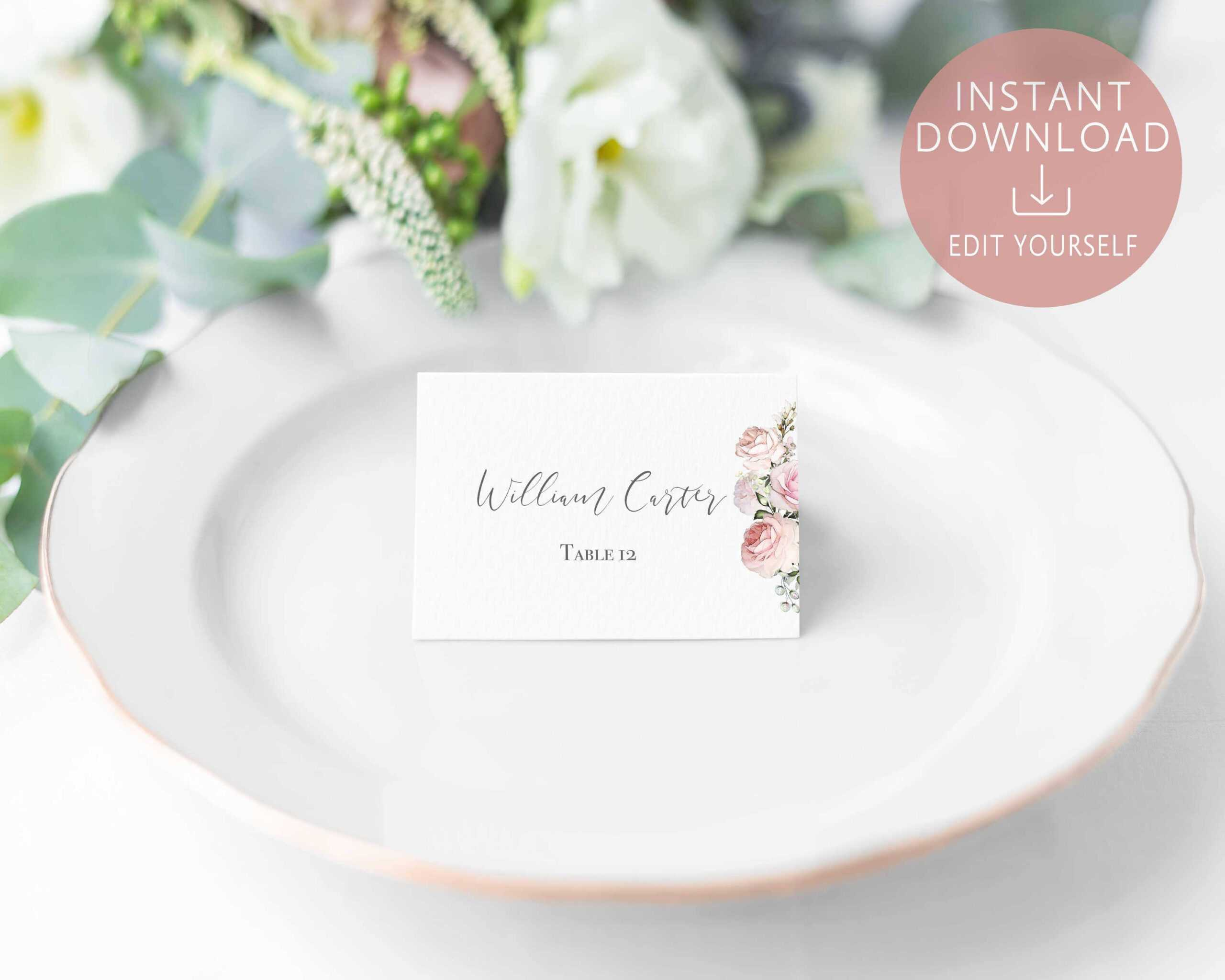 004 Template Ideas Name Place Cards Marvelous Card Free In Place Card Setting Template