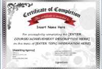 005 Certificate Of Completion Template Free Printable intended for Certificate Of Completion Template Free Printable