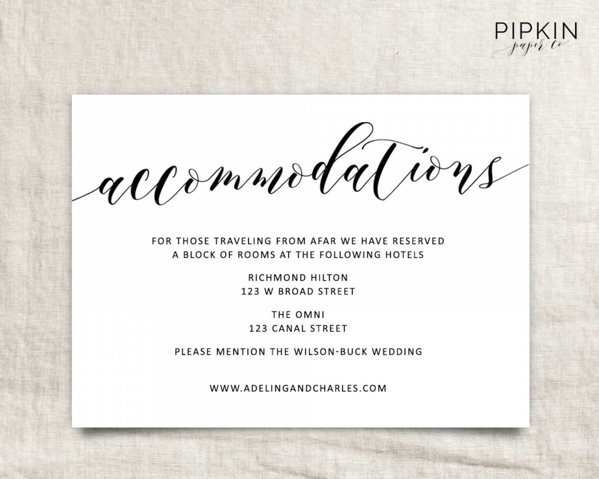 005 Free Wedding Accommodation Card Template Ideas Top Hotel Intended For Wedding Hotel Information Card Template