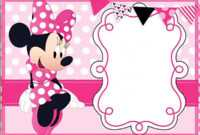 005 Template Ideas Minnie Mouse Birthday Invitation Striking pertaining to Minnie Mouse Card Templates