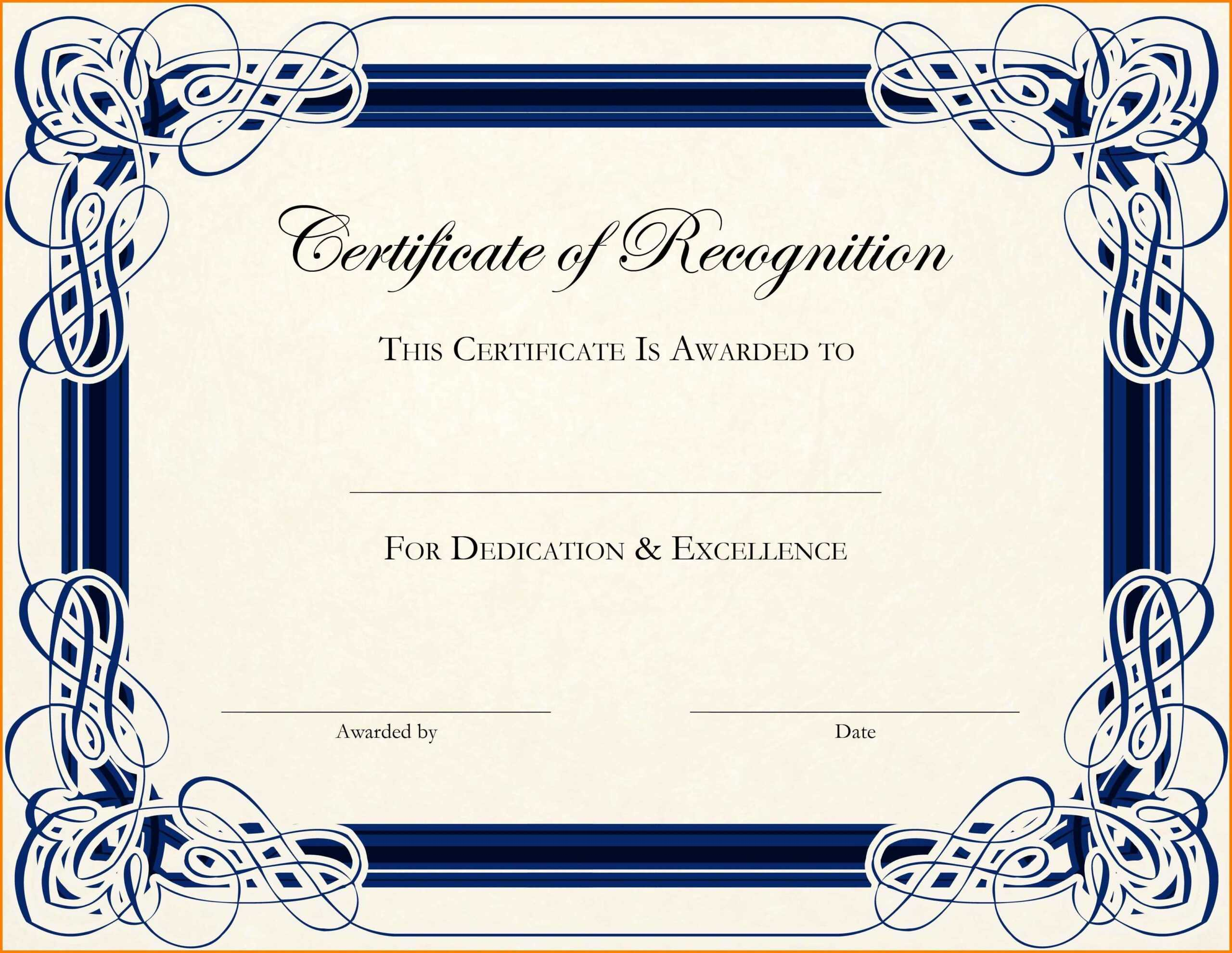 005 Template Ideas Terrific Basic Certificate Word Awful With Regard To Award Certificate Border Template