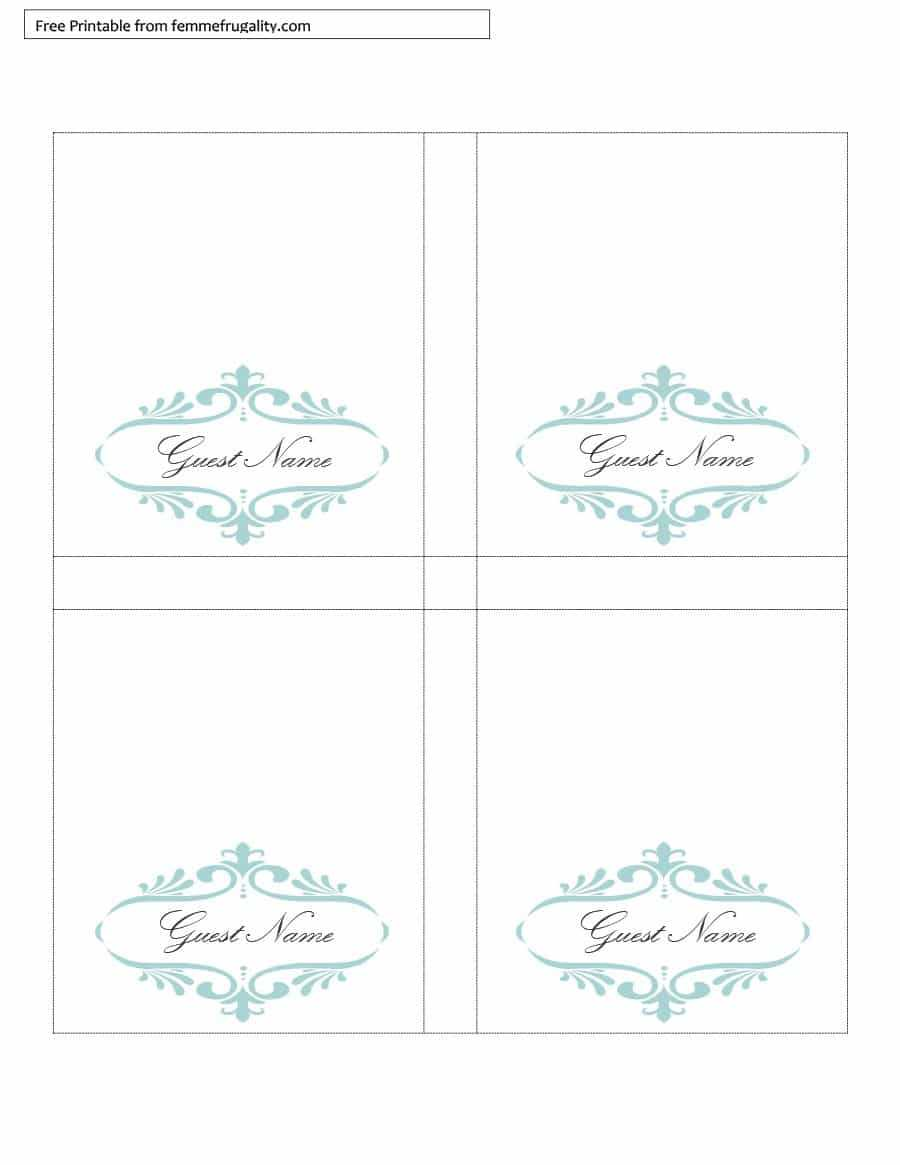 006 Table Place Card Template Free Download Ideas Tent Regarding Table Place Card Template Free Download