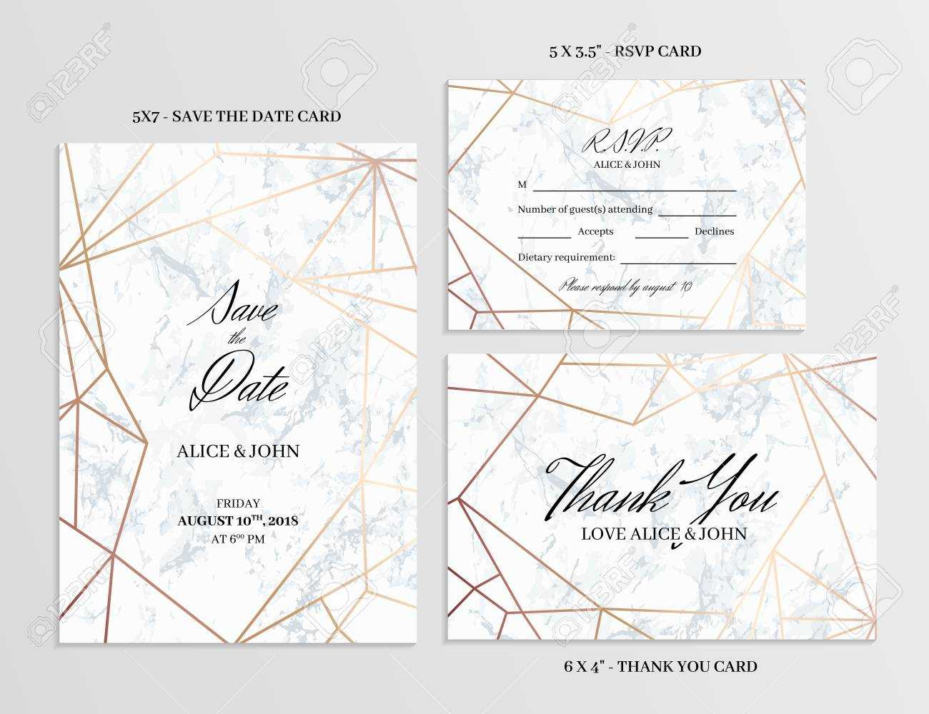 006 Wedding Set Save The Date Thank You And R S V P Cards With Template For Rsvp Cards For Wedding