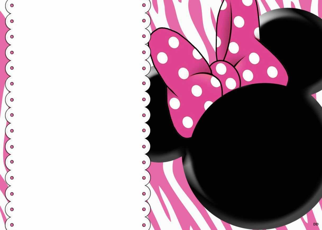 008 Minnie Mouse Birthday Invitation Template Ideas Striking Intended For Minnie Mouse Card Templates