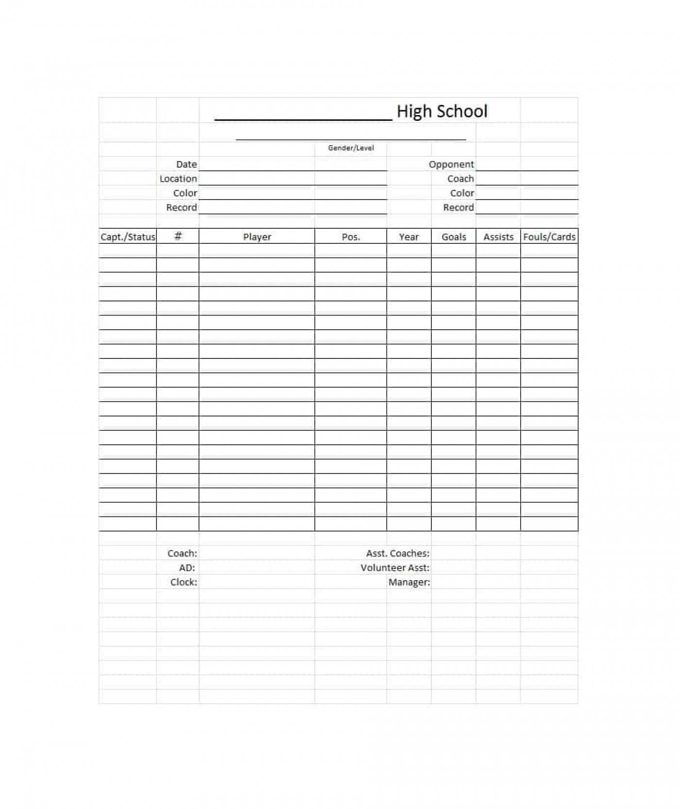 010 Template Ideas High School Report Card Word 20The In Soccer Report Card Template