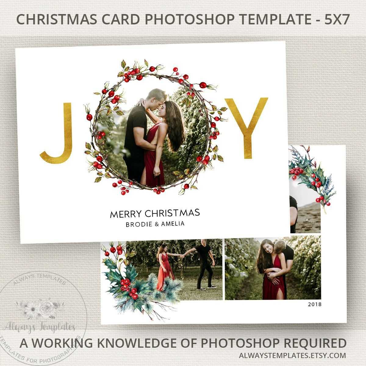 010 Template Ideas Photoshop Christmas Card Templates With Regard To Holiday Card Templates For Photographers