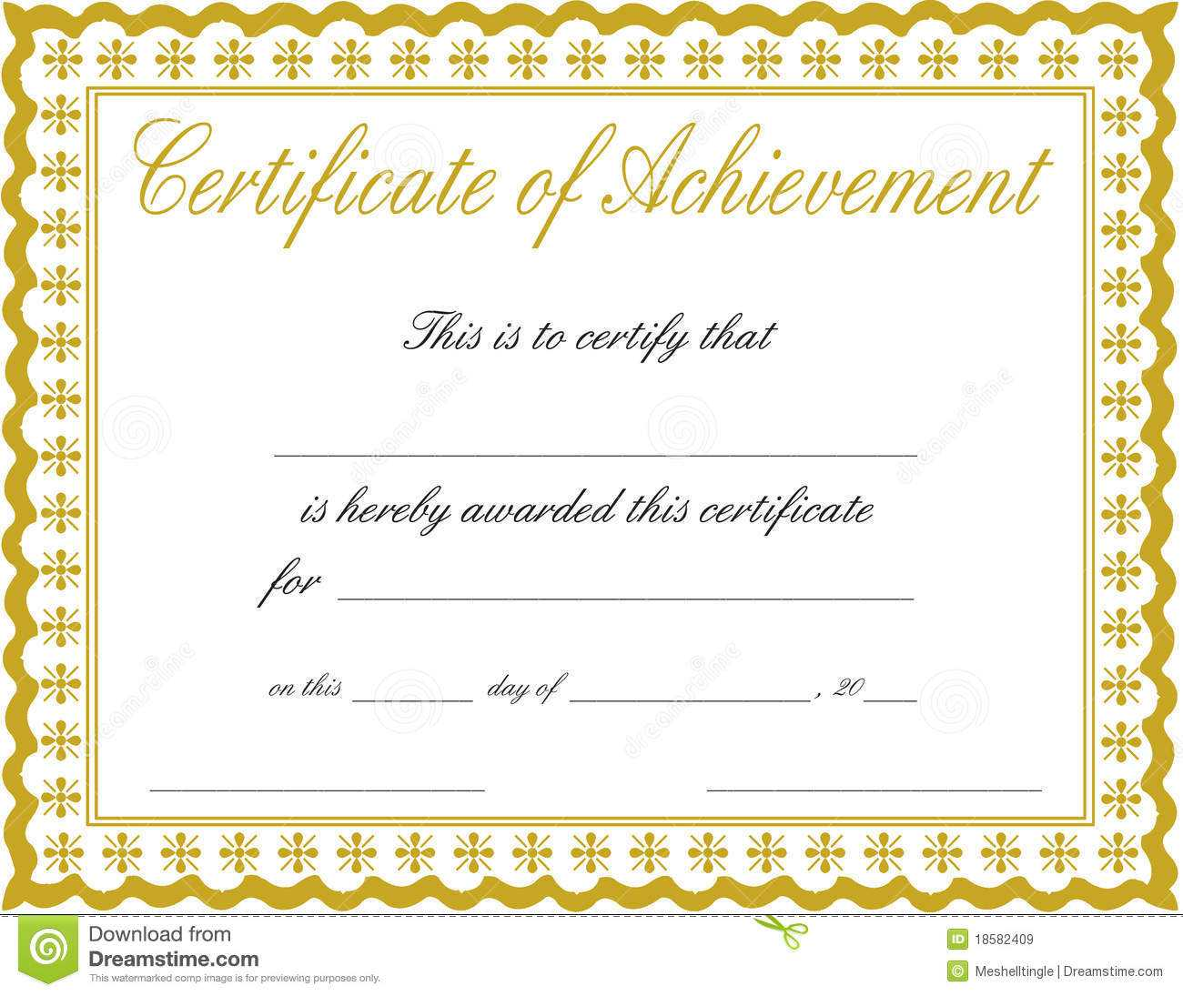 011 Free Printable Certificate Of Achievement Template Blank Inside Certificate Of Completion Template Free Printable