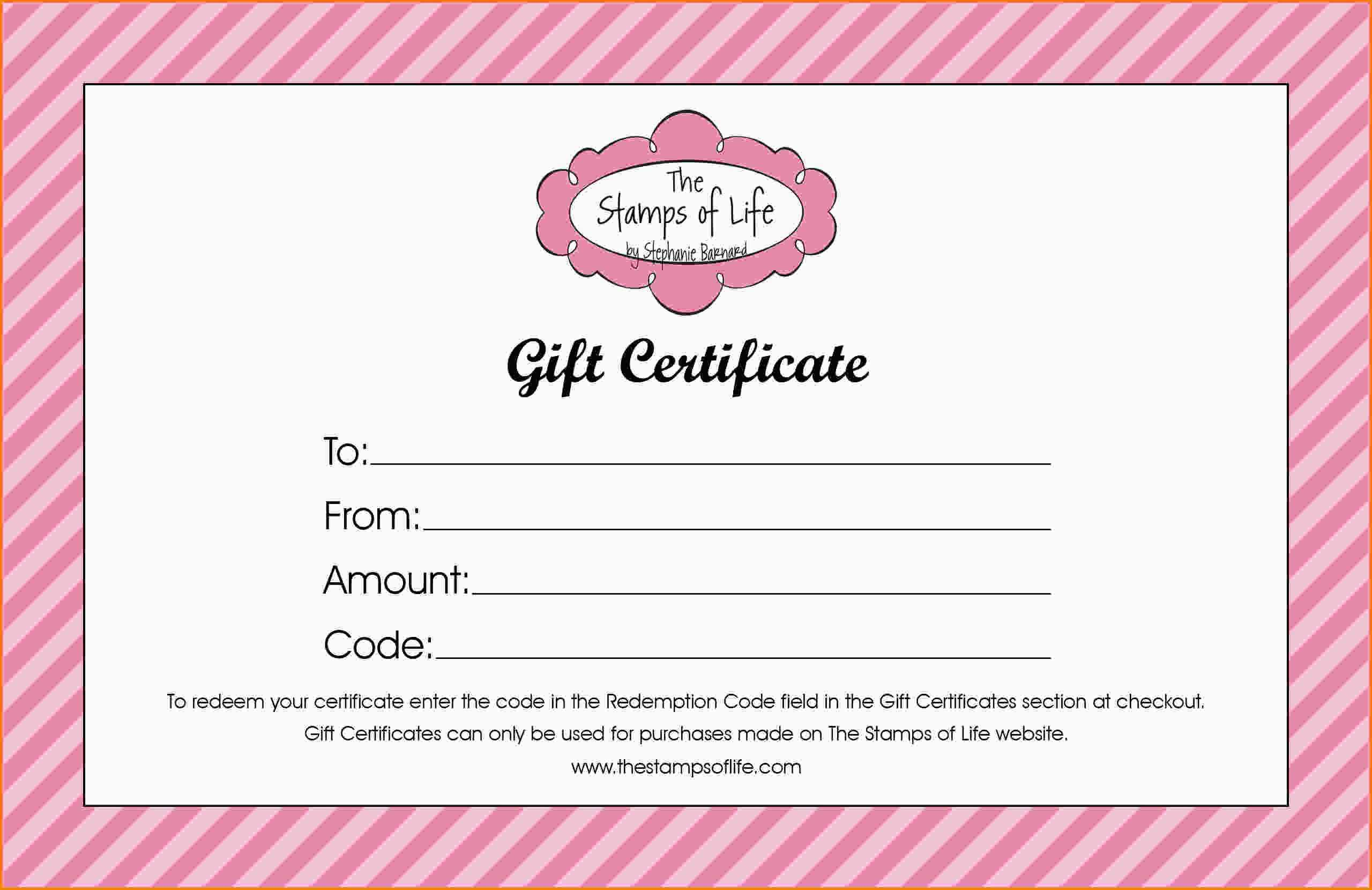 011 Free Printable Gift Certificates Online For Birthday In Pink Gift Certificate Template