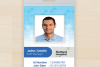 011 Id Badge Template Free Online Mockup Vertical Small within Hospital Id Card Template