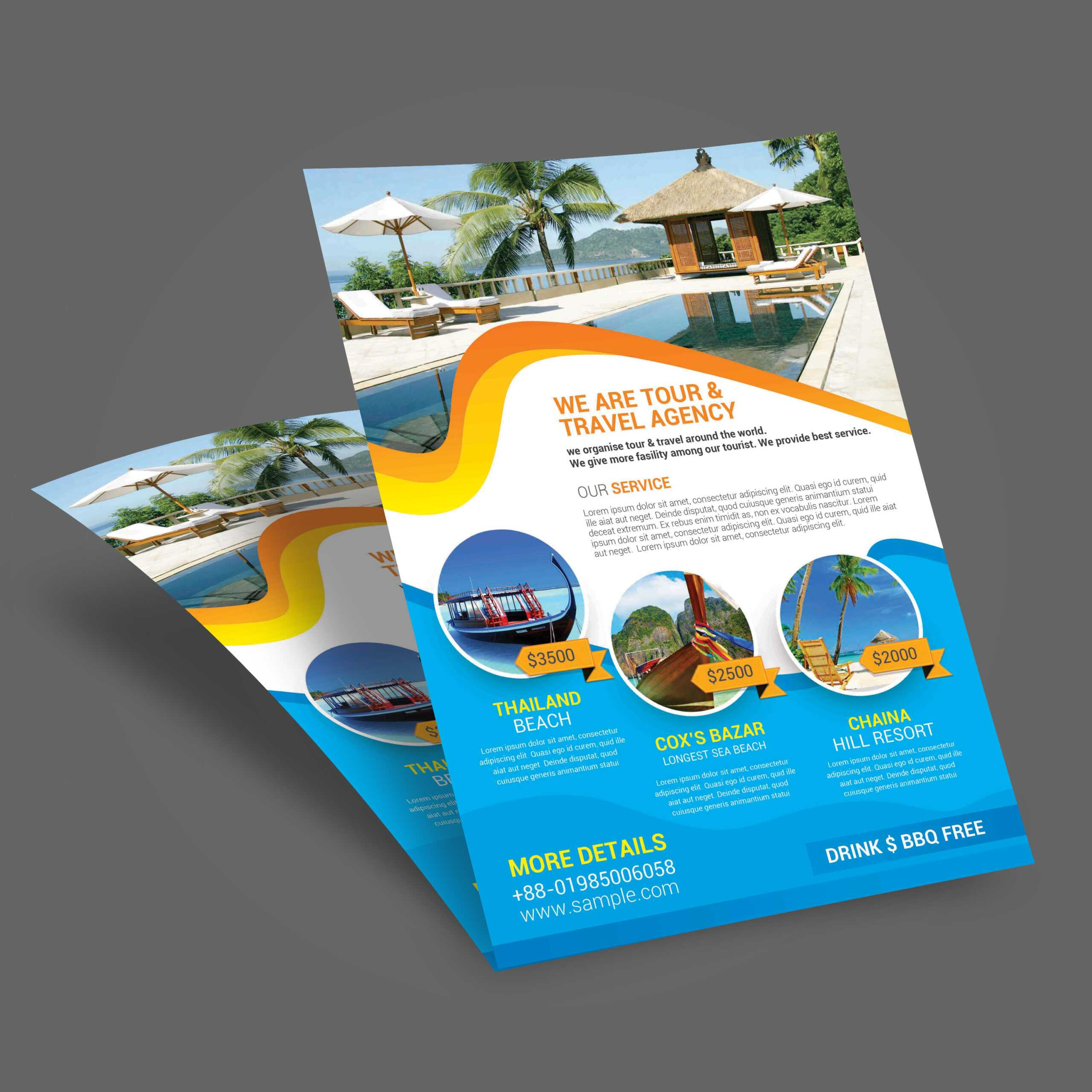 011 Template Ideas Travel Tour Flyer Brochure Templates Free With Travel And Tourism Brochure Templates Free