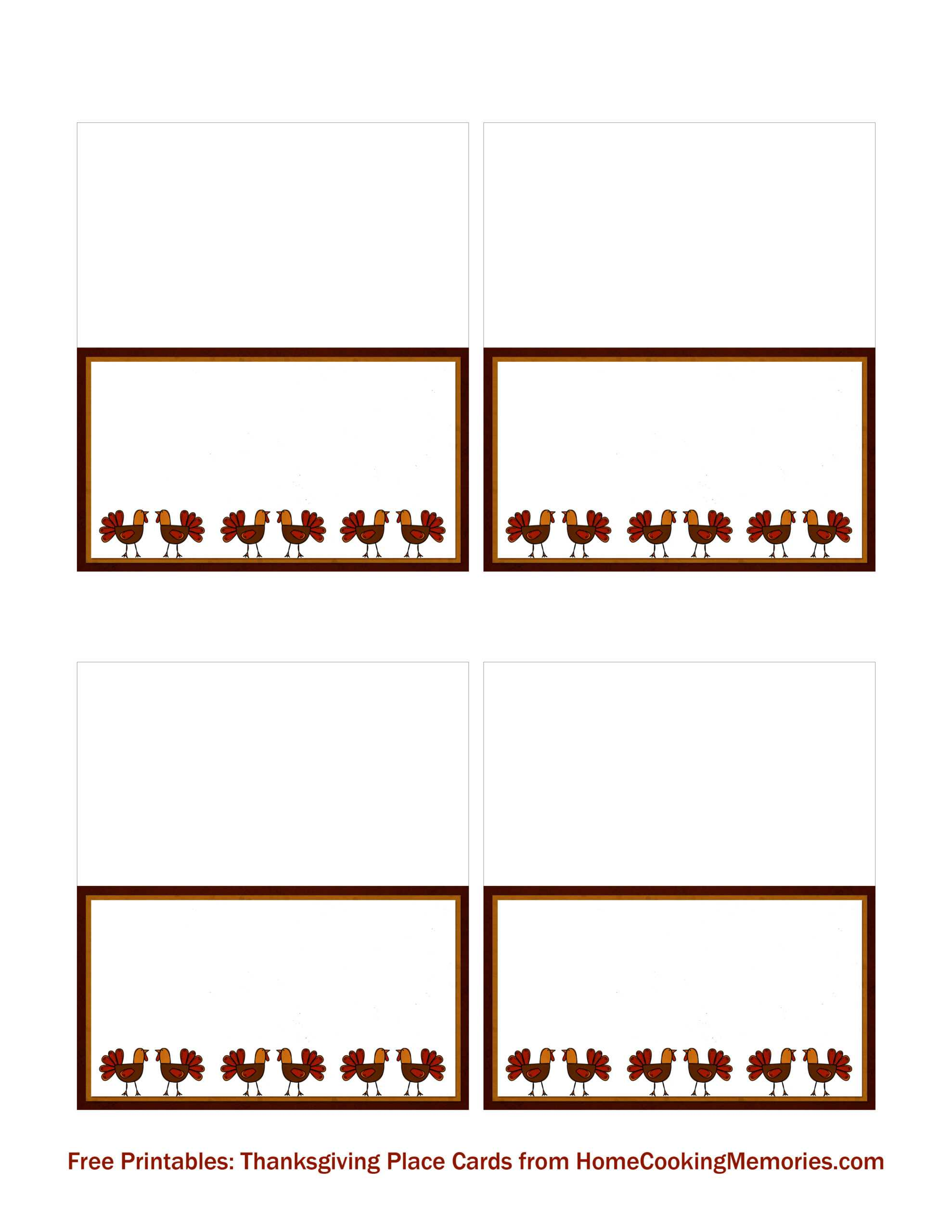 012 Frees Thanksgiving Place Cards Home Cooking Intended For Inside Thanksgiving Place Cards Template
