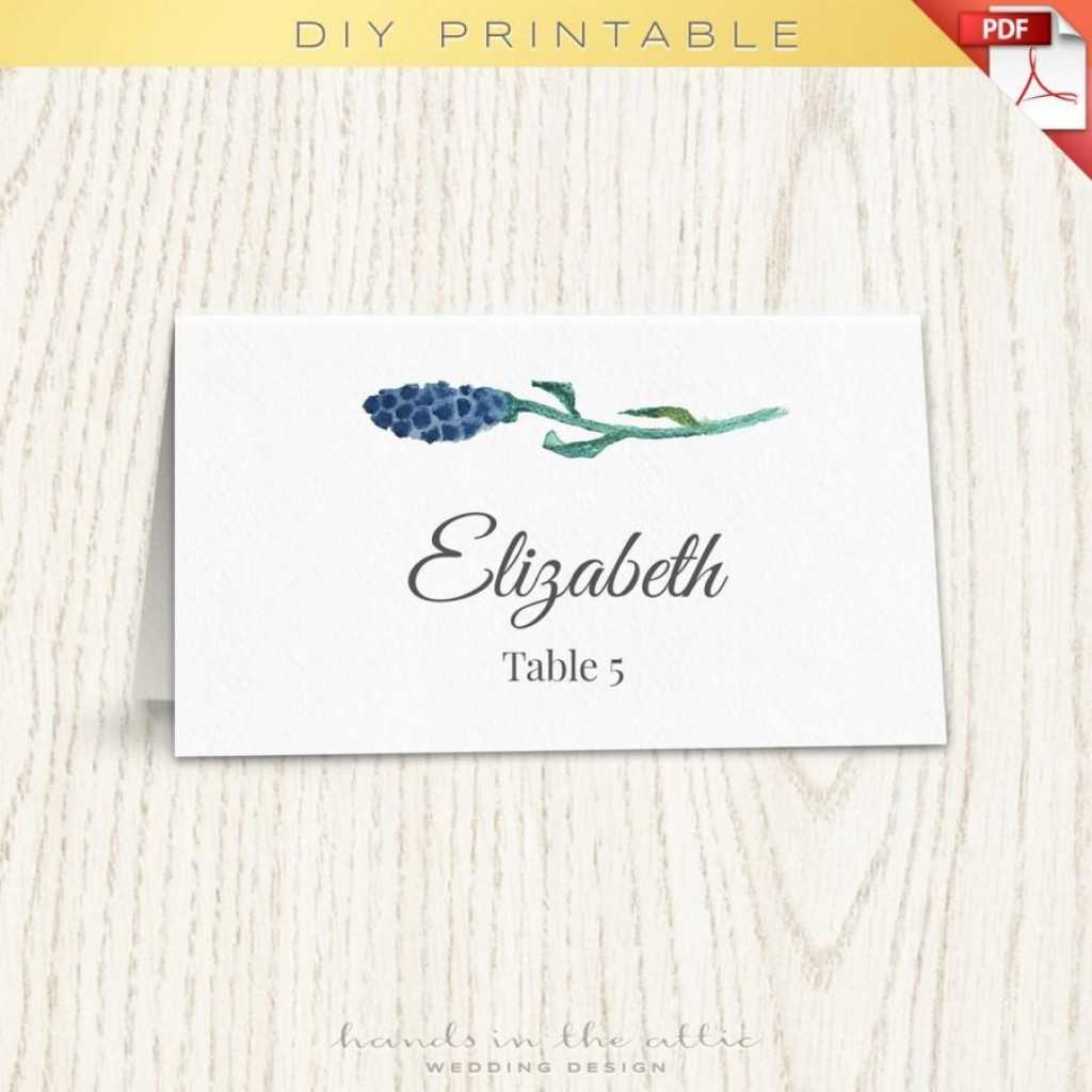 012 Wedding Name Card Template Floral Placecard Printable Inside Printable Escort Cards Template