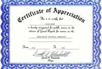 013 Blank Certificate Of Appreciation Templates Free inside Free Certificate Of Appreciation Template Downloads