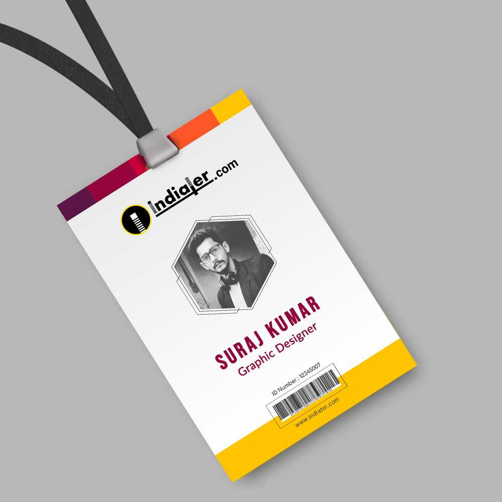 013 Creative Corporate Official Id Card Template Psd Free For Photographer Id Card Template