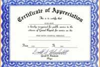 013 Template Ideas Certificate Of Appreciation Free Download throughout Professional Certificate Templates For Word