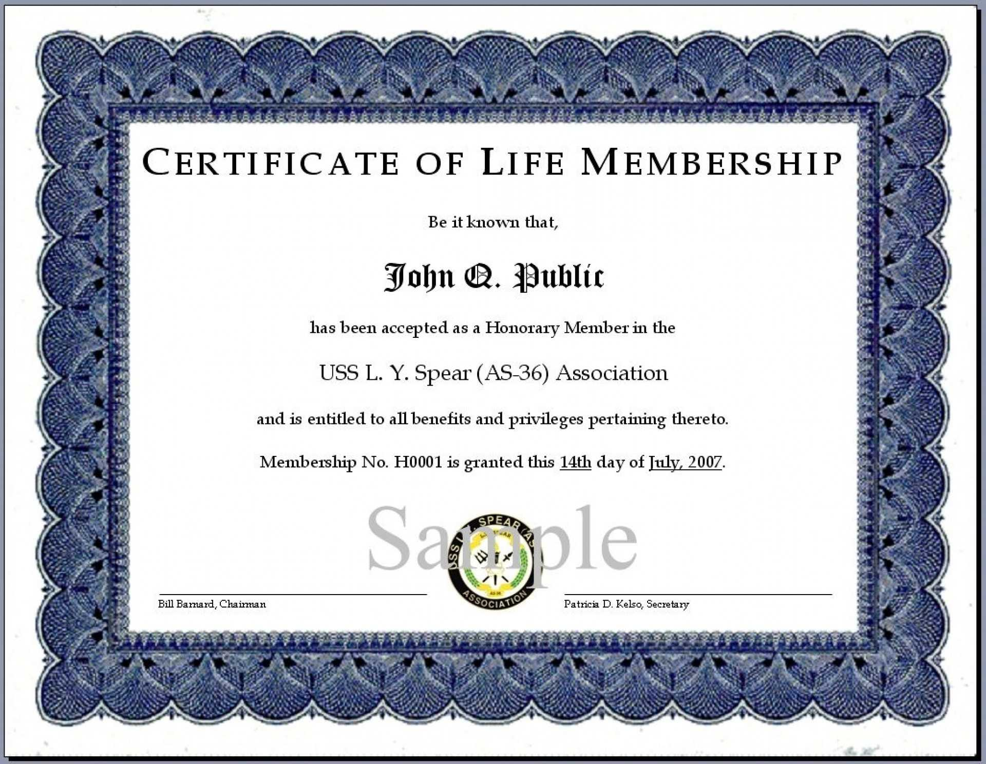 014 Church Transfer Letter Unique Llc Member Certificate Intended For Life Membership Certificate Templates