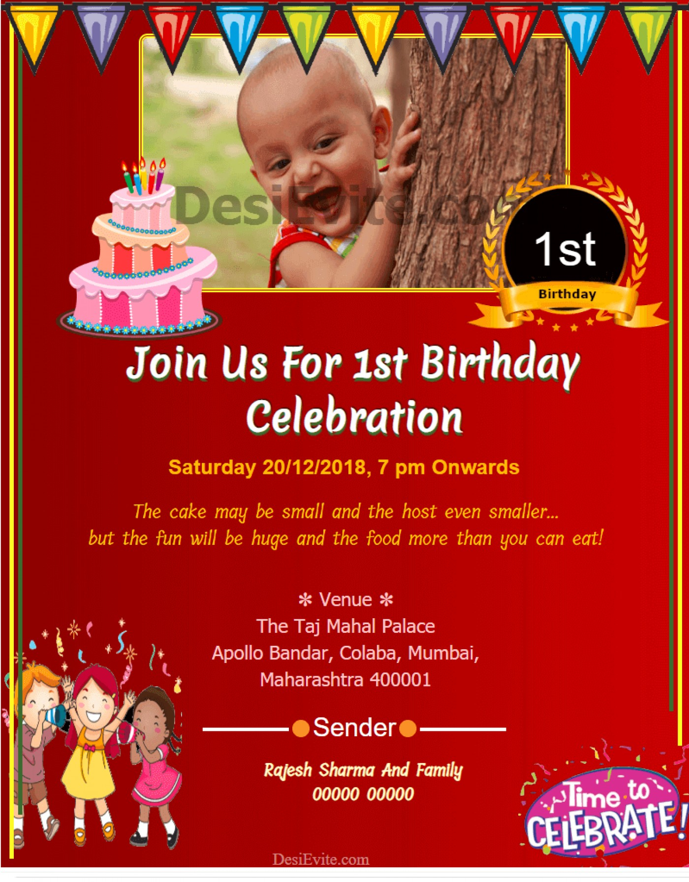 015 1St Birthday Invitation Card Maker For Baby Boy Wording Within First Birthday Invitation Card Template