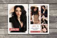 017 Model Comp Card Template Outstanding Ideas Photoshop Psd within Free Zed Card Template