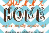 017 Template Ideas House Warming Party Invitation Free with Free Moving House Cards Templates