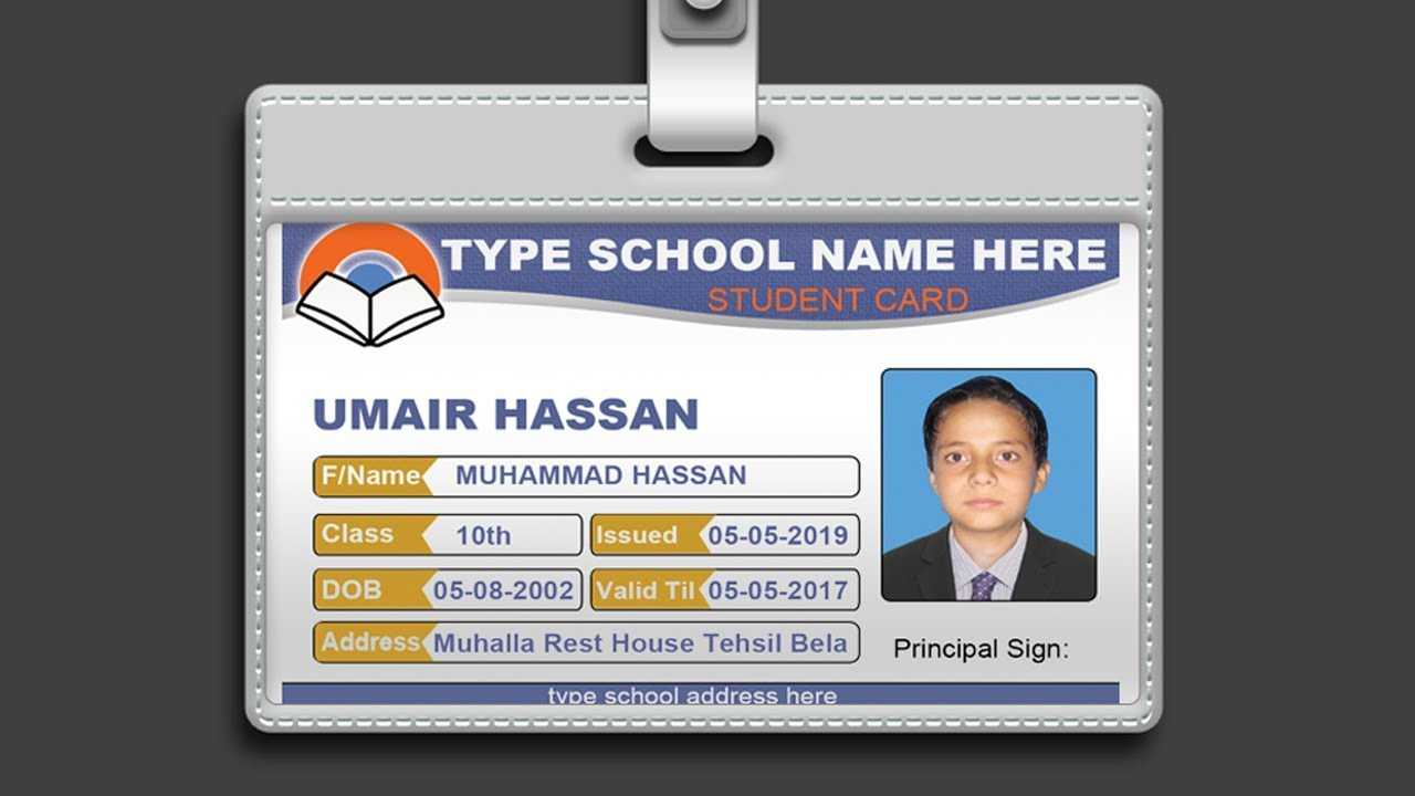 018 Template Ideas Maxresdefault Id Card Photoshop Imposing Throughout College Id Card Template Psd