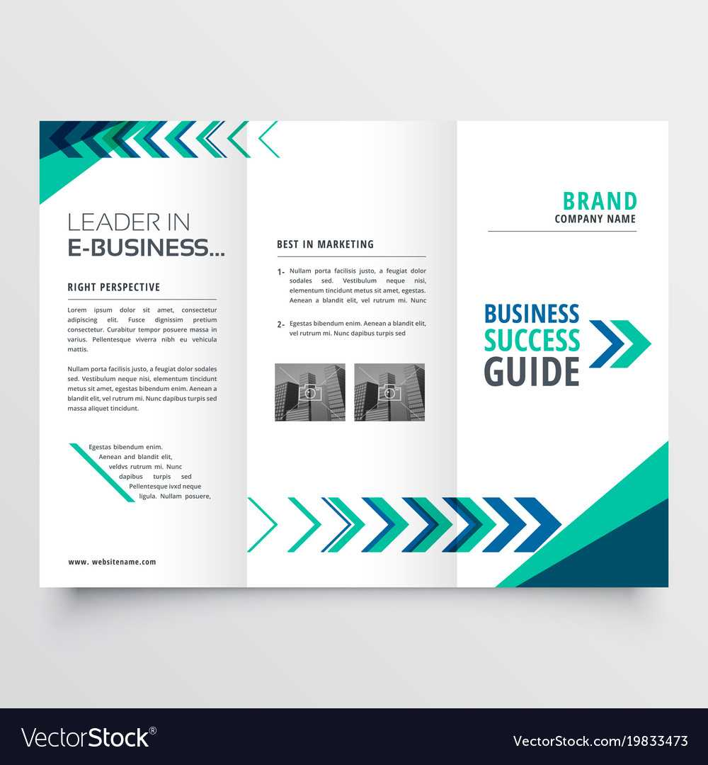 019 Business Tri Fold Brochure Template Design With Vector Regarding Adobe Illustrator Tri Fold Brochure Template