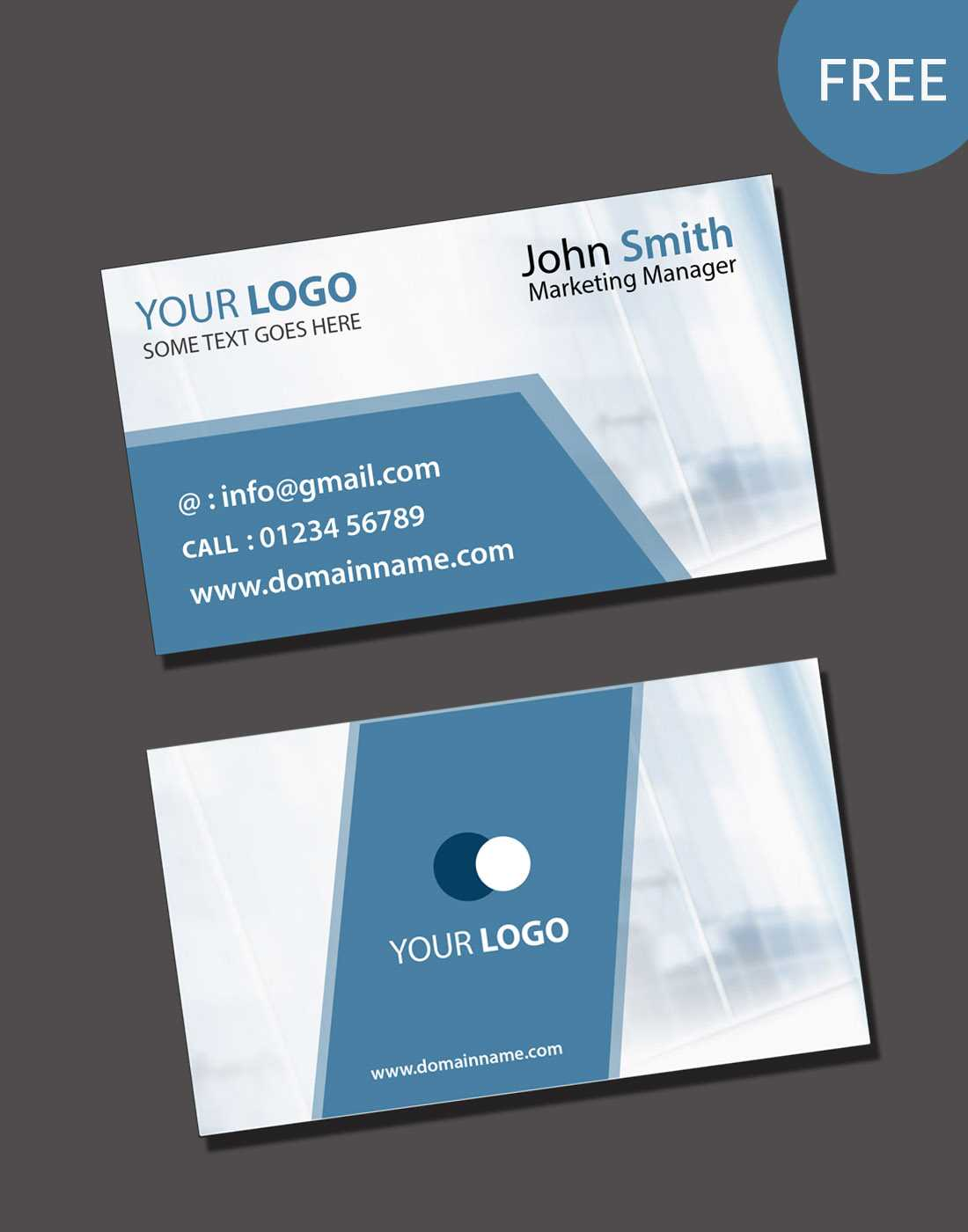 020 Free Blank Business Card Templates Psd Template Download Pertaining To Blank Business Card Template Download