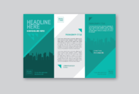 020 Professional Brochure Template Vector One Page Dreaded with regard to One Page Brochure Template