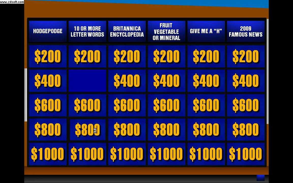 022 Jeopardy Powerpoint Template With Score 16X9 Excellent With Jeopardy Powerpoint Template With Sound