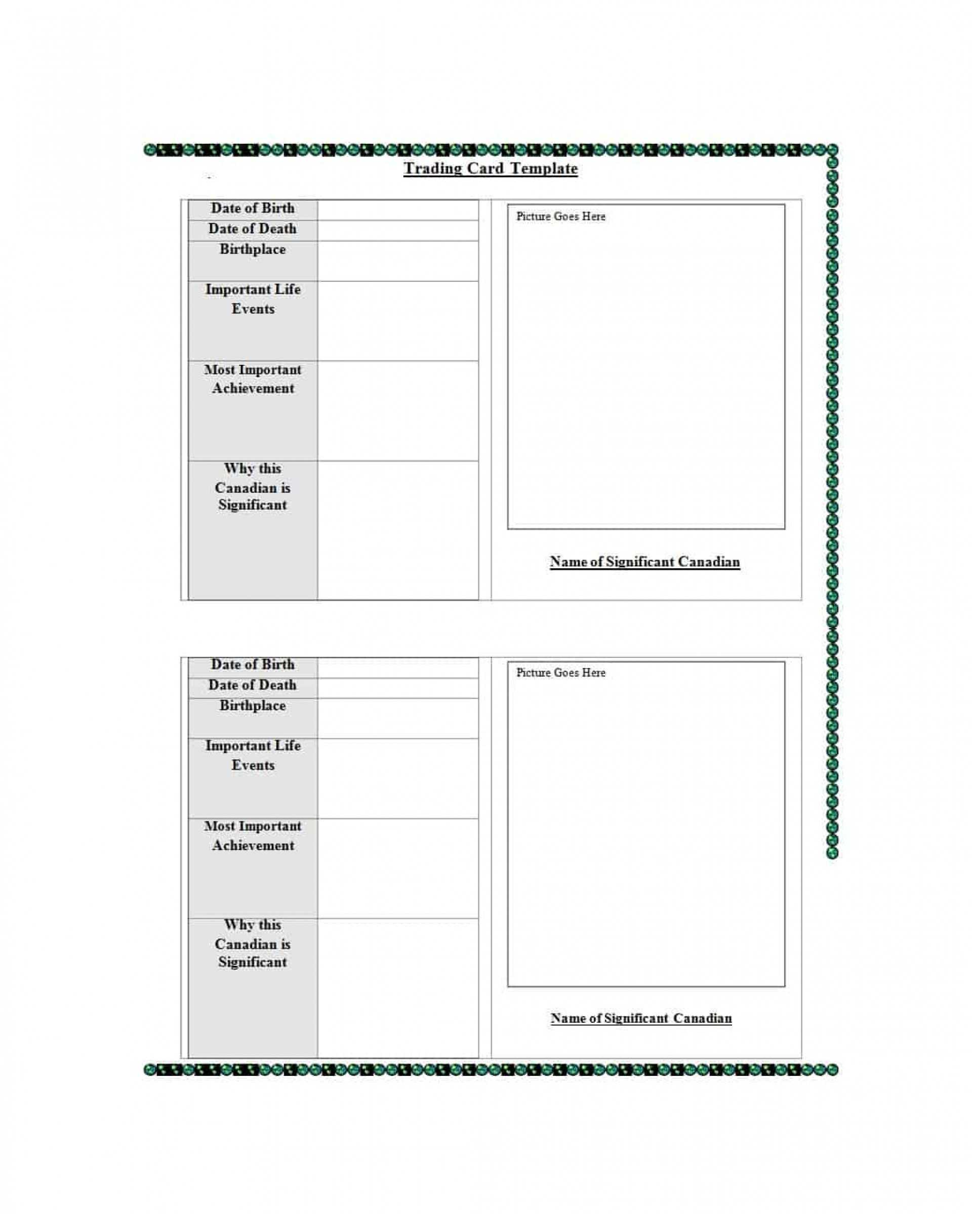024 Baseball Trading Card Template Free Download Ideas Within Free Trading Card Template Download