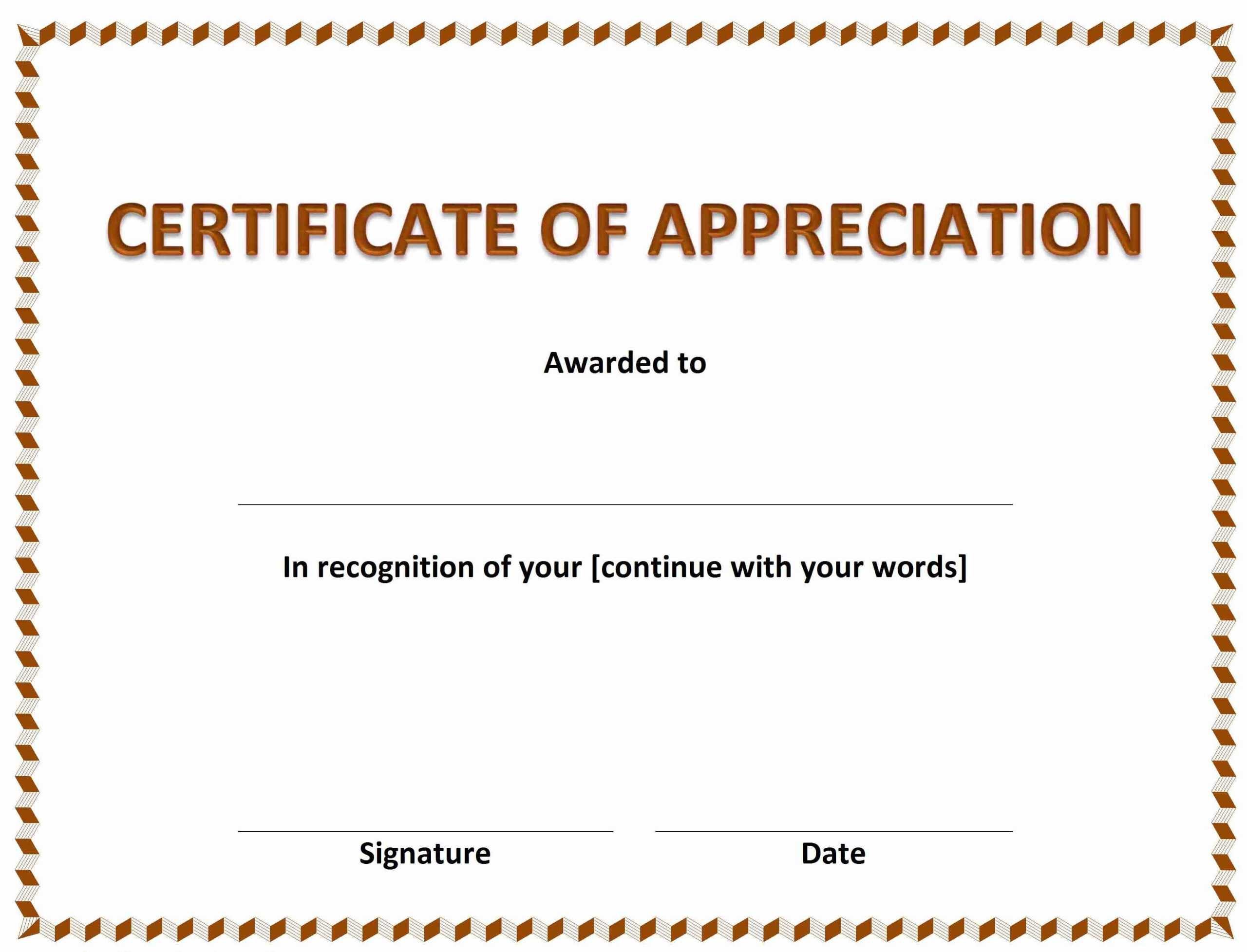 024 Certificates Of Appreciations Popular Ideas Awesome With Free Funny Certificate Templates For Word