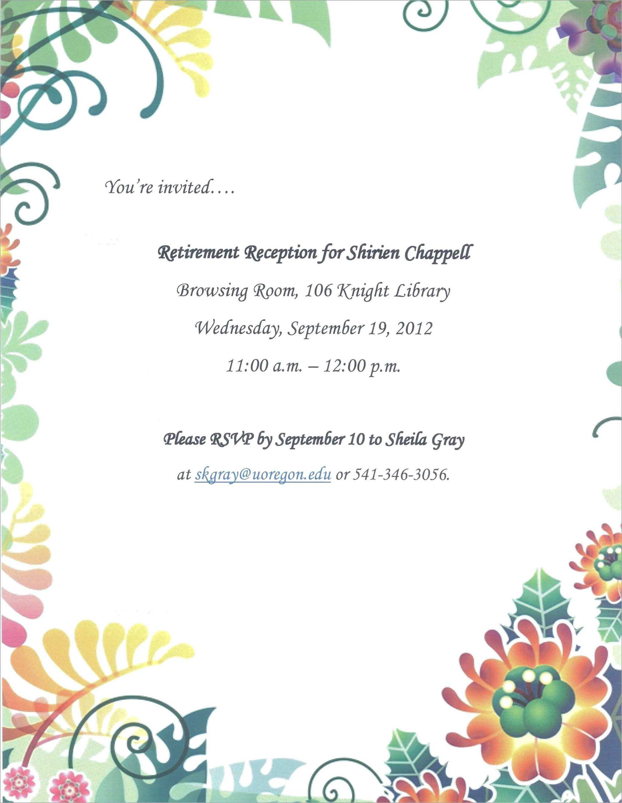 024 Elegant Farewell Party Invitation Template Free Best Of Pertaining To Farewell Card Template Word