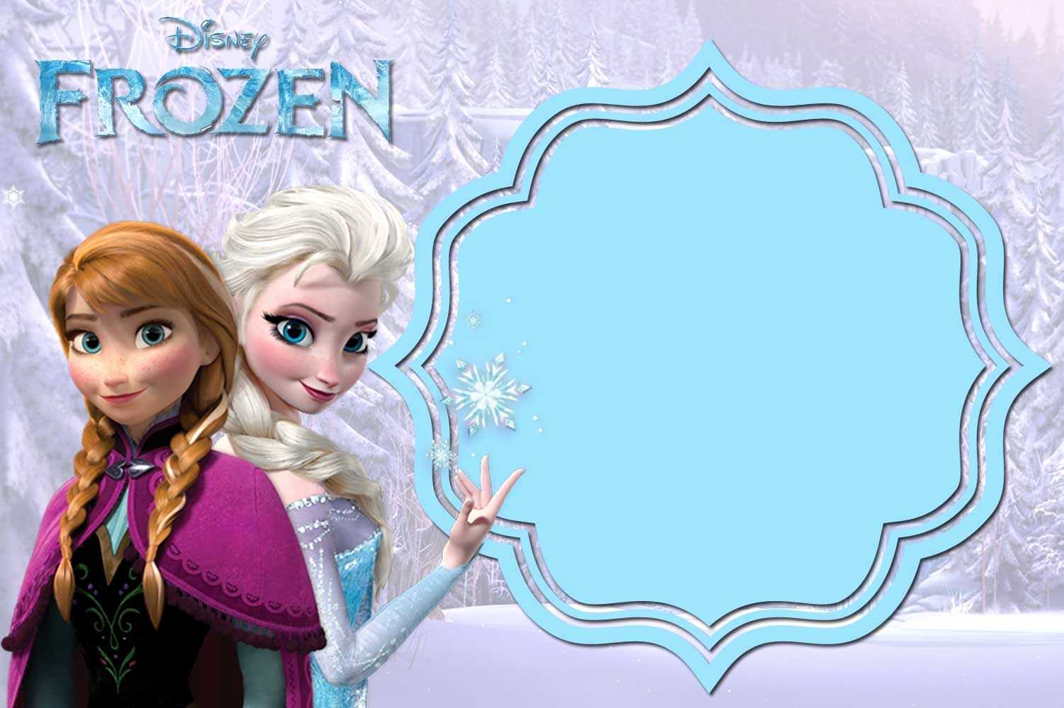 024 Frozen Birthday Invitations Template Luxury Free Within Frozen Birthday Card Template