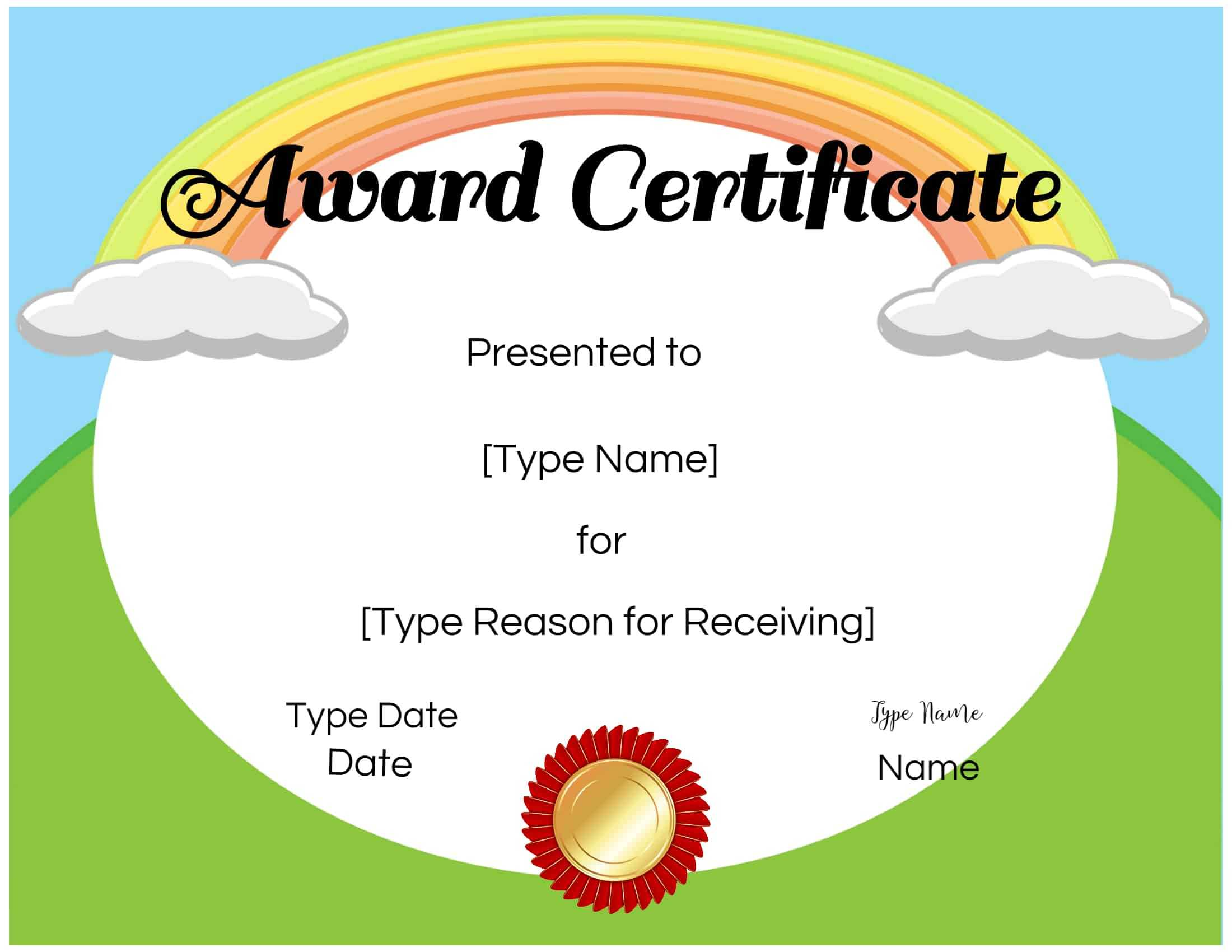 026 Free Templates For Certificates Certificate Kids Inside Free Printable Certificate Templates For Kids
