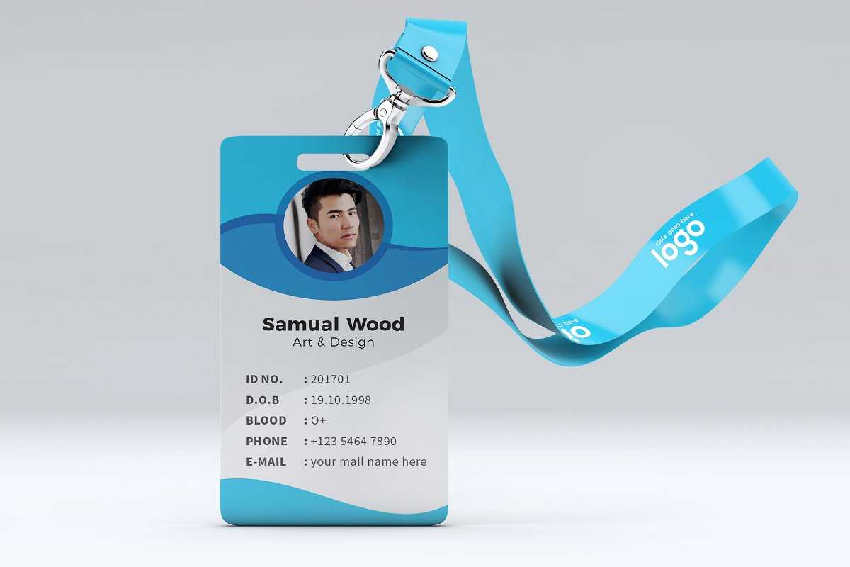 027 Employee Id Card Template Psd Free Download University In Template For Id Card Free Download
