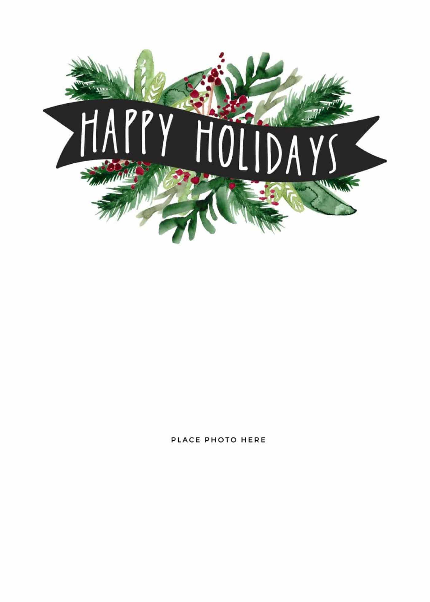027 Template Ideas Free Holiday Card Templates For Photoshop With Happy Holidays Card Template