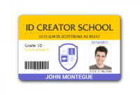 029 Blank School Student Id Card 128290 Templates Photoshop with regard to Pvc Id Card Template