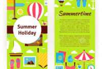 029 Free Holiday Flyer Templates Vector Template Flat Design with Summer Camp Brochure Template Free Download