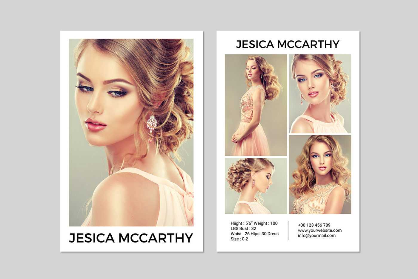 031 Model Comp Card Template Outstanding Ideas Psd Free For Download Comp Card Template