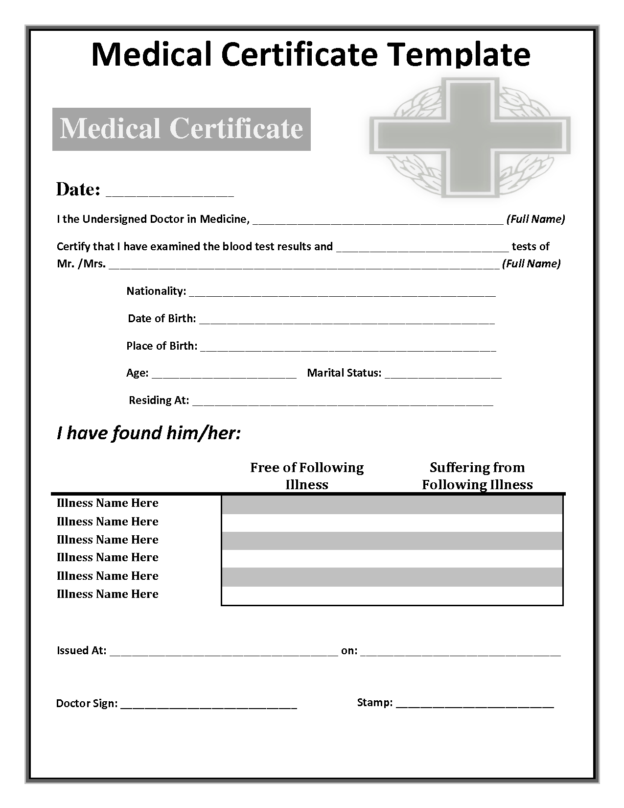 034 Free Doctors Note Template Australia Fake 142285 Intended For Fake Medical Certificate Template Download
